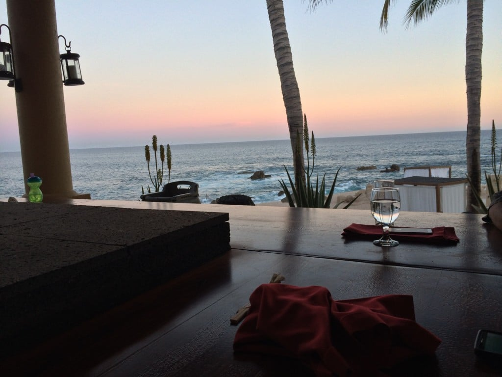 Sunset at Dinner at Fiesta Americana Los Cabos