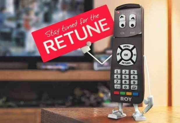Remote saying get ready to retune